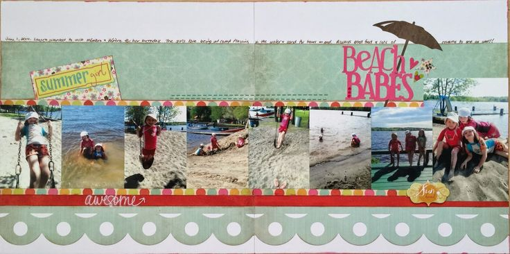 Our House of E...: Let's Scrap: Beach Babes