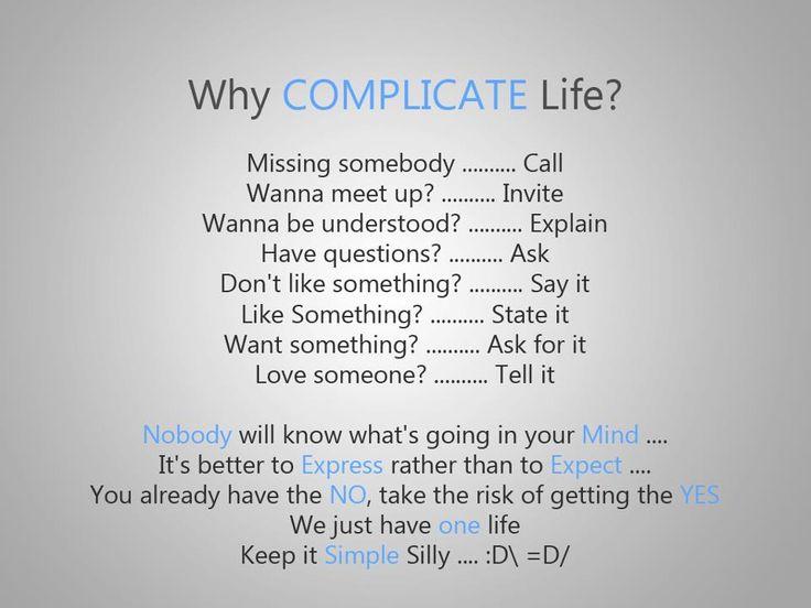 why complicate life - Szukaj w Google