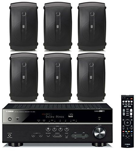Yamaha 72Channel Wireless Bluetooth 4K Network AV WiFi Home Theater Receiver  Yamaha HighPerformance Natural Surround Sound 2Way IndoorOutdoor Weatherproof Speaker System Set Of 6 *** Click on the image for additional details-affiliate link. #HomeAudioSpeakersSurroundSoundSystems