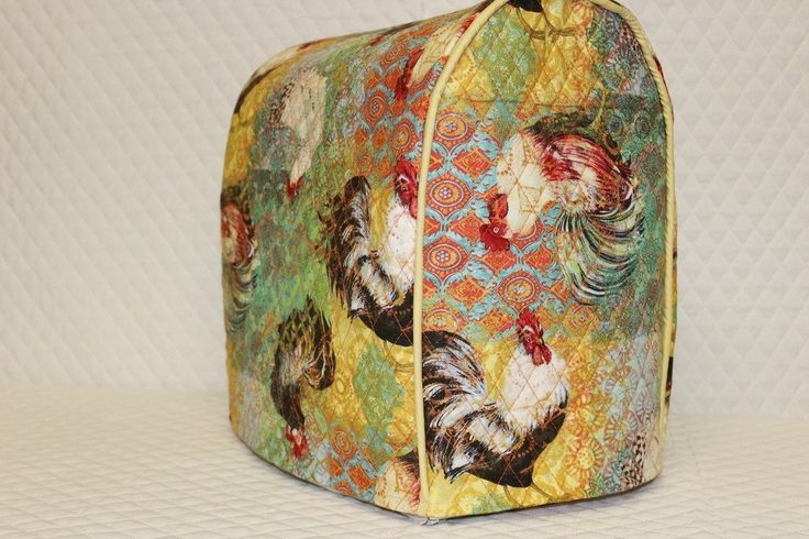 Lift Head Kitchenaid Stand Mixer Cover / Quilted Double Faced Cotton, Roosters