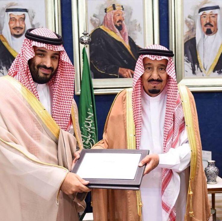 الملك سلمان وابنه محمد بن سلمان اللهم احفظهم ❤️