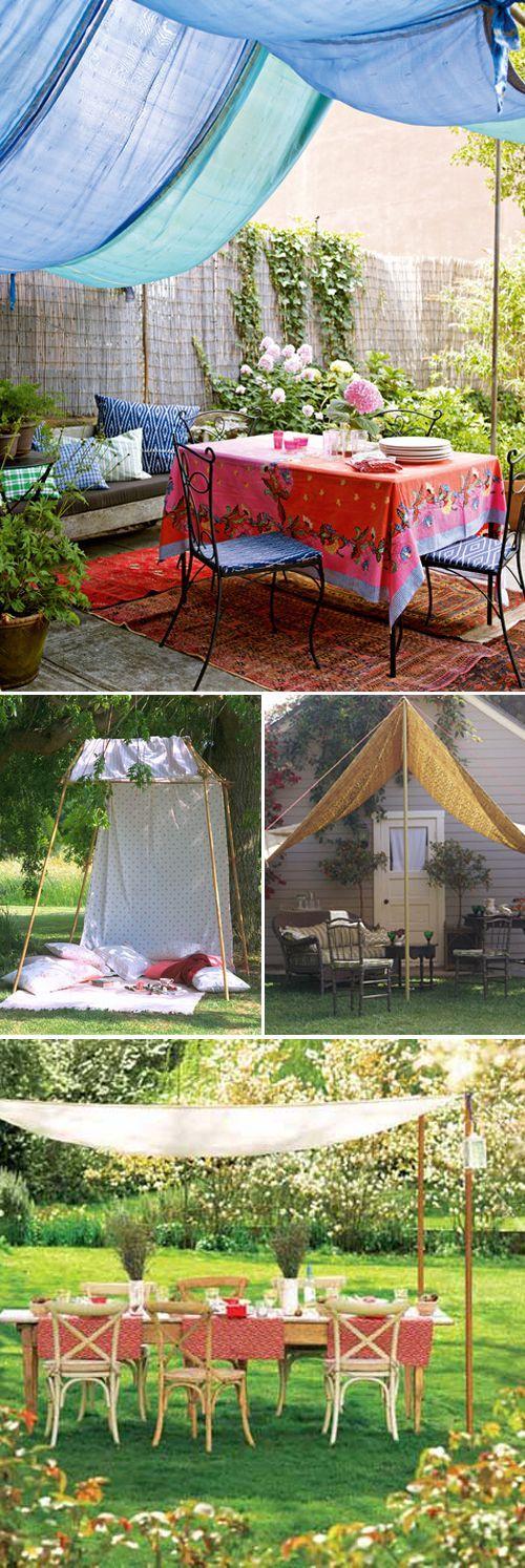Canopy for summer entertaining Summer entertaining