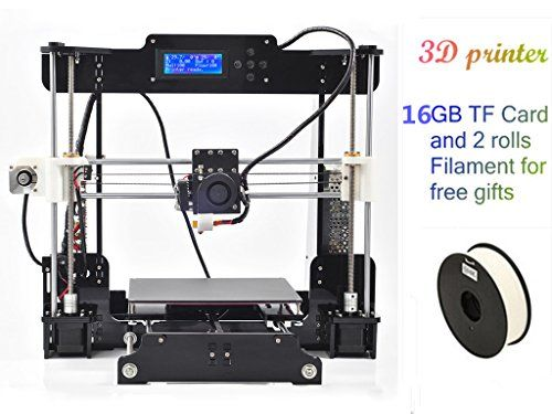 2016 Upgraded Quality High Precision Prusa i3 DIY 3d Printer kit Acrylic Frame LCD Screen with 2 Rolls Filament and 16GB TF card free gifts DMYY http://www.amazon.co.uk/dp/B01AY0YW4U/ref=cm_sw_r_pi_dp_7c77wb1MWEW3H