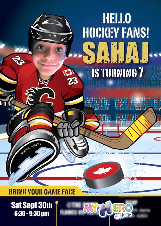 29 best Hockey Birthday Invitations images on Pinterest