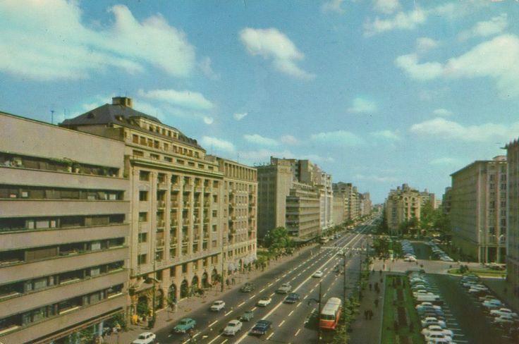 Bucuresti, Bulevardul general Magheru, 1967; Editura Meridiane, foto Al Mendrea
