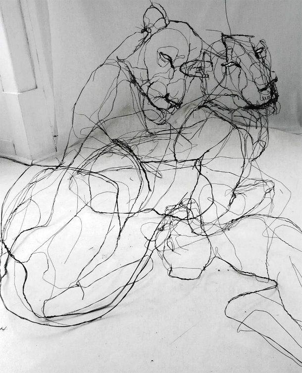 David Oliveira dieren-draad-sculpturen-2