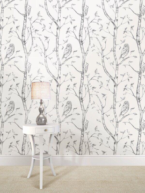 Kraker 18 X 20 5 Peel And Stick Wallpaper Roll In 2021 Birch Tree Wallpaper Wood Wallpaper Nuwallpaper
