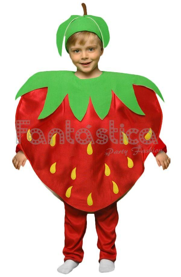 e5babba33 Disfraz para Niño y Niña Fresa   Art craft   Disfraz de frutas ...