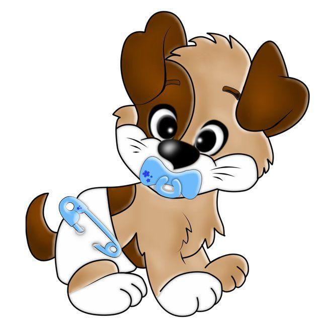 Картинка веселого щенка для детей, анимации горят свечи