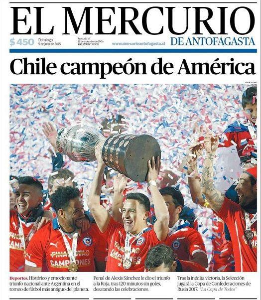 Portada El Mercurio 5/07/2015