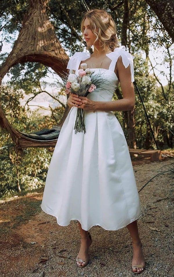 Vestido de noiva para casamento civil: 80 fotos de modelos perfeitos!… | Vestido casamento civil simples, Vestidos de casamento princesa, Vestidos de noiva princesa