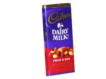 Cadbury Fruit and Nut Chocolate Bars     http://www.thecandylandstore.com/wholesale-bulk-candy/cadbury-fruit-nut.html