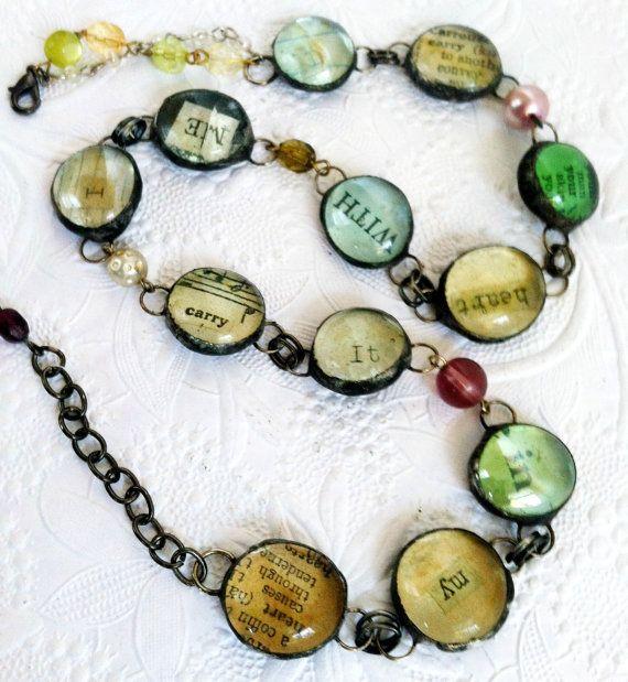RESERVED Custom ORDER EE Cummings Bracelet I Carry by Mystarrrs, $69.00