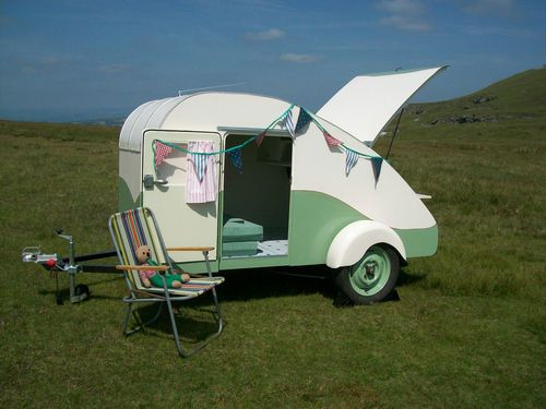 Retro Teardrop Trailer Micro Mini Caravan Hot Rat Rod Vw