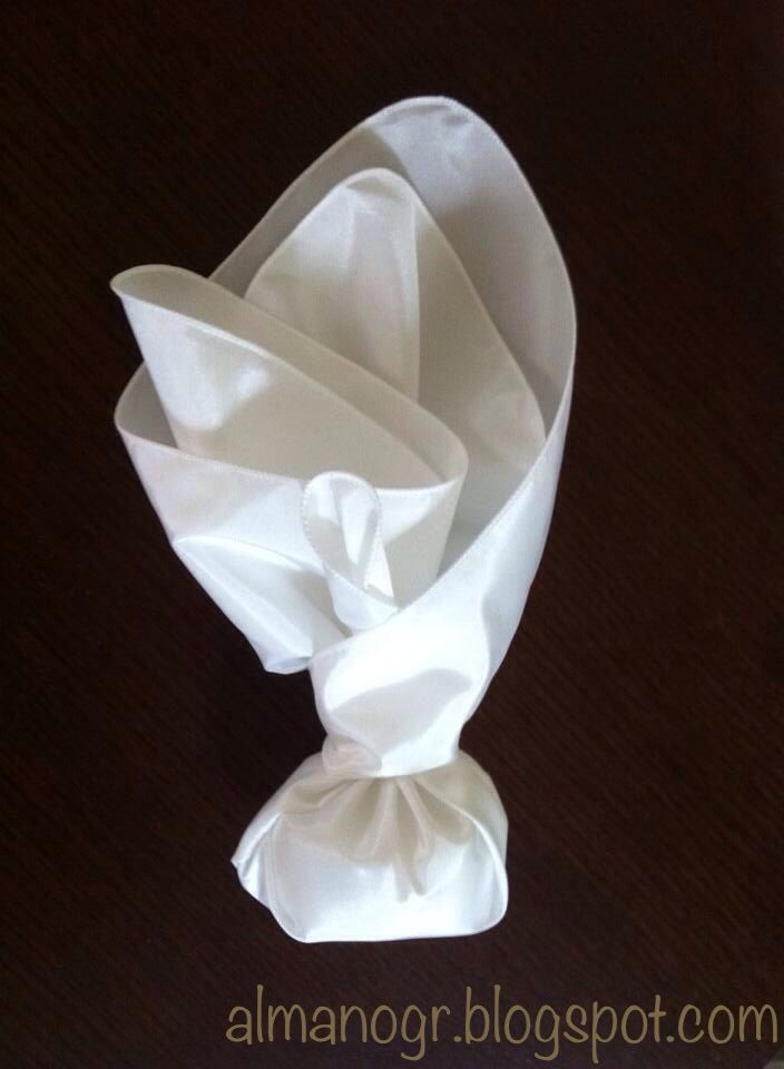 Marriage favor made of white satin