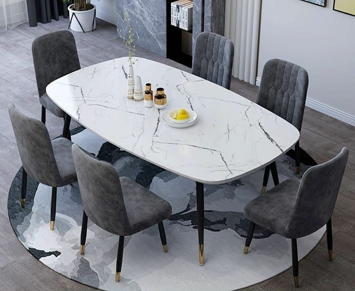 Pre Order Item Classic Modern Dining Set Size 4 Seater Dining Set Table 120cm X 70cm Dining Table Marble Dining Table Decor Modern Dining Table