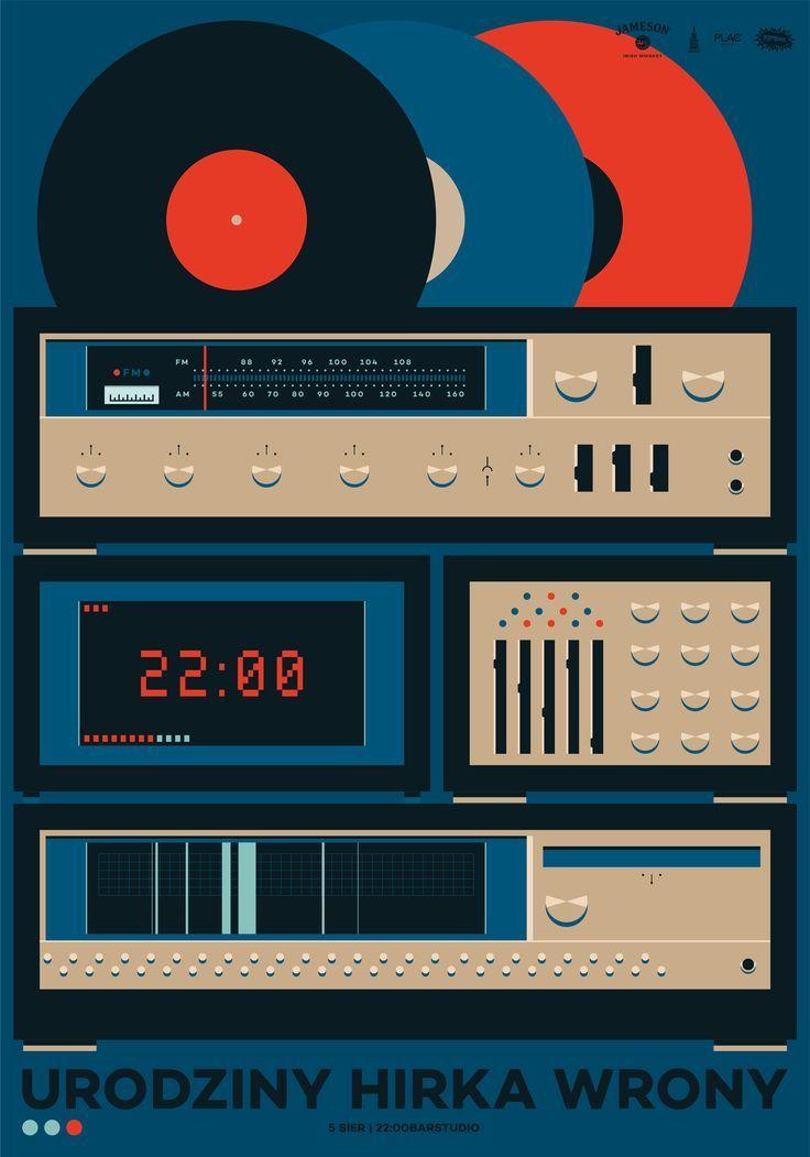 Ola Jasionowska on Behance | Retro Vector Illustration 80s inspired