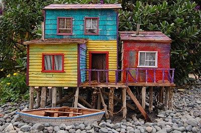 Maquetas de Casas Patrimoniales del Sur de Chile: Palafitos de Chiloé