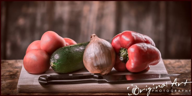 Food photography - still life scene - ready to cook?  Pepper, courgette, onion, tomatoes  #food #foodphotography #photography #productphotography #vegetables