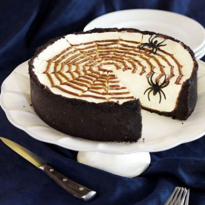 No-Bake Spiderweb Cheesecake (10/7/2013) Food: Dessert: Cheesecake ...