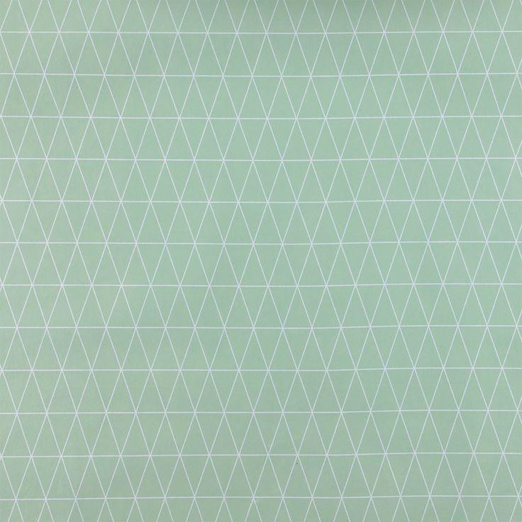 Vaxduk dimgrön m grafiskt mönster - Stoff & Stil