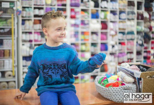 Jersey de lana para niños