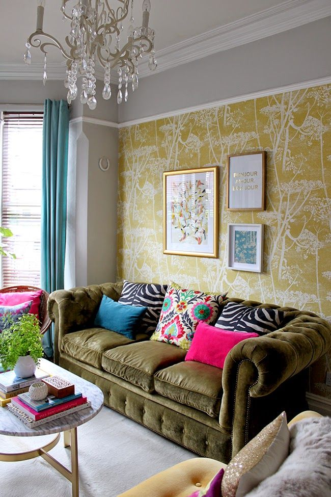 Cole Son Yellow Cow Parsley Wallpaper Mustard Pinterest