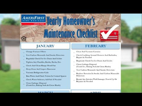 Yearly Home Maintenance Checklist l AmeriFirst Home Mortgage - YouTube