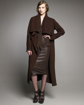 Cashmere belted jacket by donna karan at neiman marcus