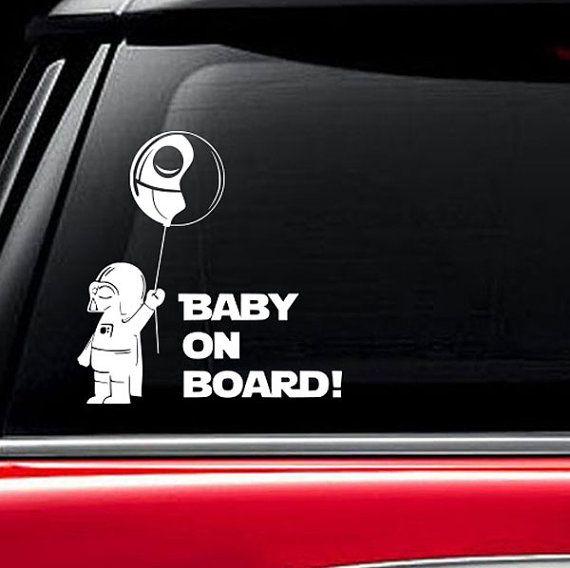 Baby On Board Darth Vader Star Wars Car Decal by VinylWallArtworks