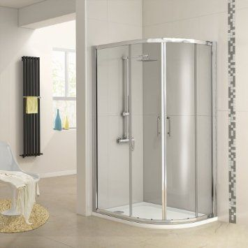 1000 x 800mm Right Hand Offset Quadrant Glass Shower Enclosure and Tray Set: Amazon.co.uk: Kitchen & Home