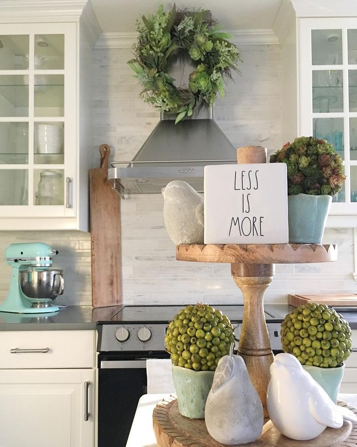 I don't consider myself a crazed Rae Dunn die hard in the least but HELLOOO📢 ...how cute is this little sign 👏🏻 A great reminder that I often rehearse over & over in my head 🍃 For interest sake this entire tray display is from @homesensecanada , including the tray itself and my signature succulent range-hood wreath to boot! Yay for inexpensive styling pieces 🙌🏻 Anywhoo we are off to dual soccer and some good ole fashioned hiphop 🕺🏻 👈🏻 they need a better dance emoji 🤷🏼♀️ Have a…