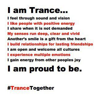 trance. How I love trance music... Just feel love, peace, come together as one and you'll regain that love you once thought you never had..  -P