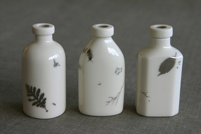 Coe & Waito - slip cast porcelain with platinum decals