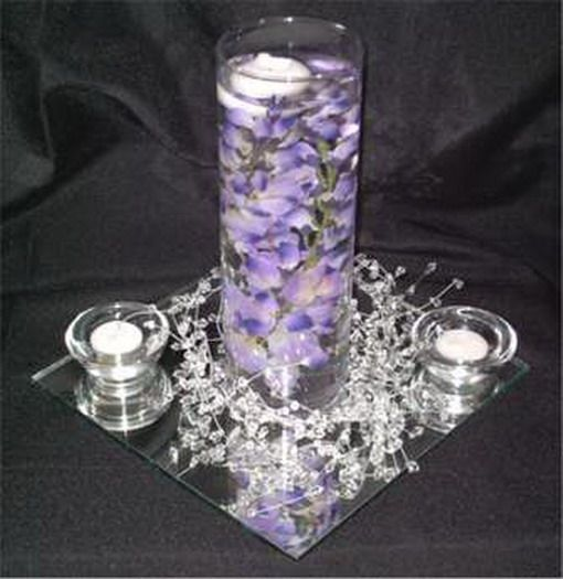 purple wedding reception centerpiece ideas - Google Search