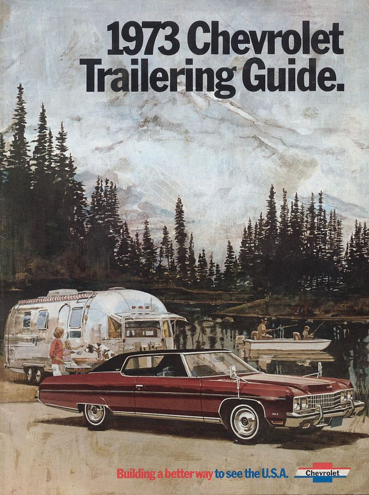 1973, Chevy towing an Airstream Chevrolet, Automobile