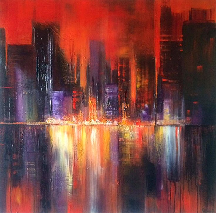 FineArtSeen - View Urban Glow by Tracey Rowan. An original cityscape painting. Browse more art for sale at great prices. New art added daily. Buy original art direct from international artists. Shop now
