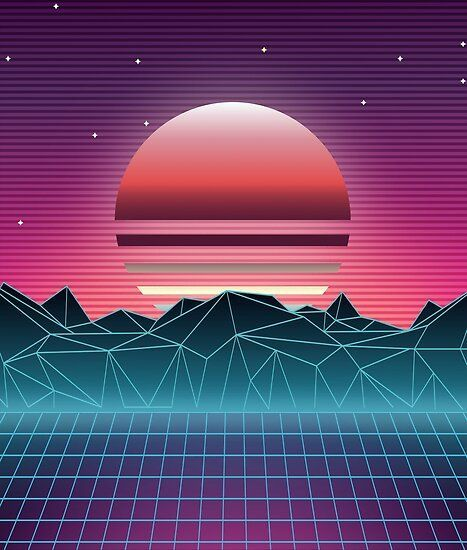 'Sunset Vaporwave Aesthetic' Poster by MaiZephyr ...