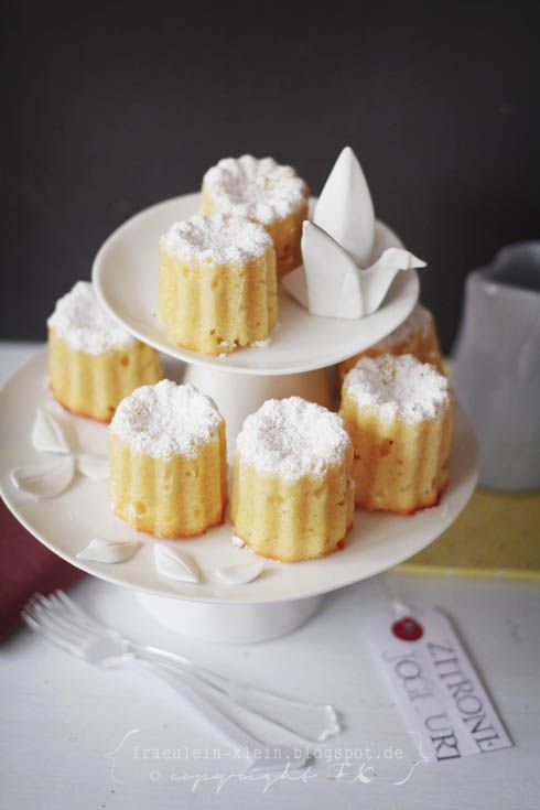 Pretty Lemon Yogurt Cakes - Site has a translate button