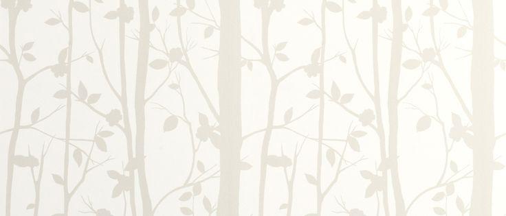 Cottonwood White Leaf Wallpaper at Laura Ashley
