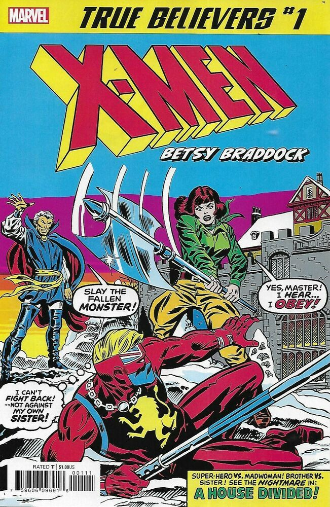Uncanny X Men Comic 1 Betsy Braddock Classic Reprint True Believers Claremont Betsy Braddock Comics Marvel