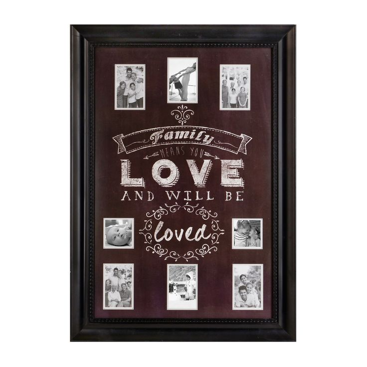 Family Love Chalkboard Art Collage Frame | Kirklands