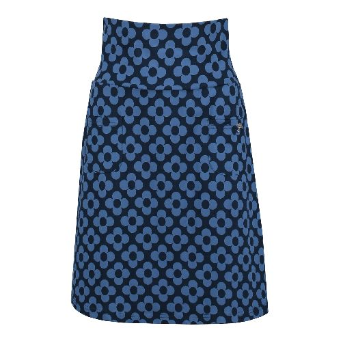 Skirt Pocket Big Flower Navy