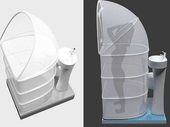 Este box flexível é ideal para banheiros pequenos | +MMS