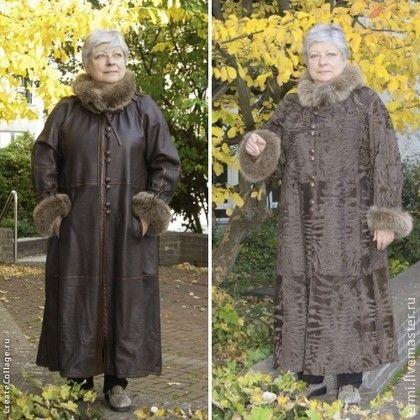 Верхняя одежда ручной работы. Ярмарка Мастеров - ручная работа Свакара два лица, тонкорунная, амарантовый перл. Handmade.