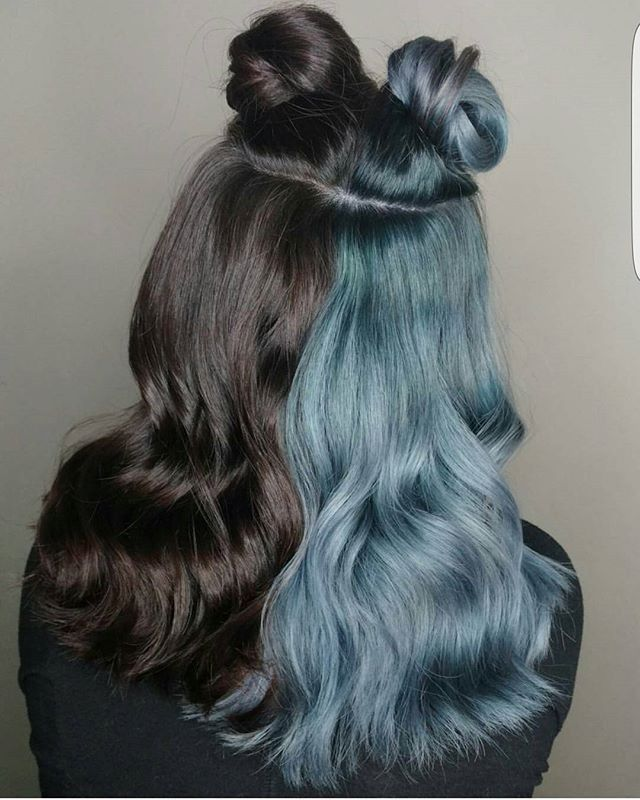 19++ Hair dyed half and half ideas in 2021