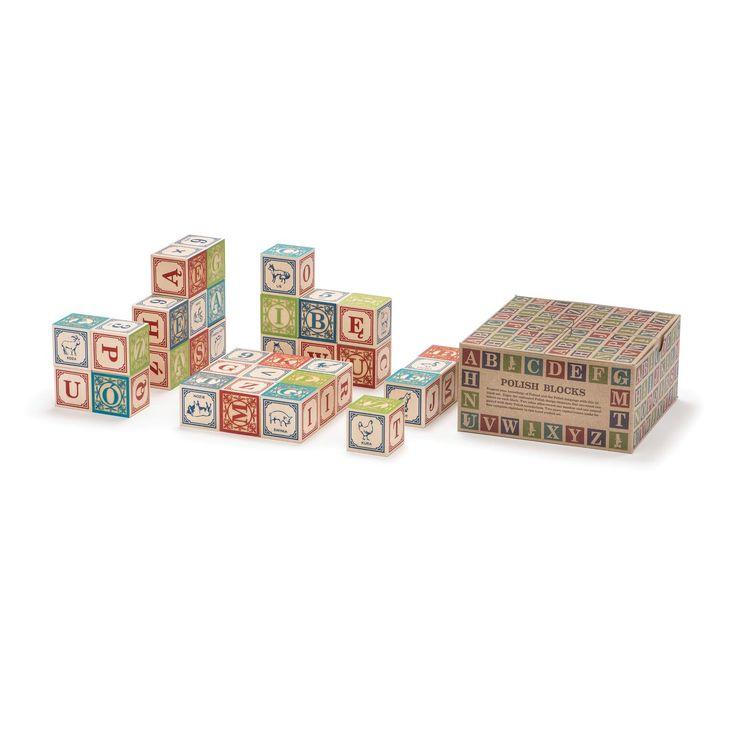 Polish Alphabet Wooden Blocks