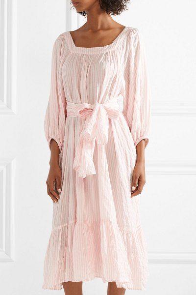 Lisa Marie Fernandez laure striped crinkled-voile midi dress.   lisamariefernandez 0186f15b1