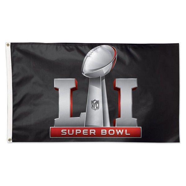 Super Bowl LI Logo Flag measures 3x5 feet and displays 2017 Super Bowl 51 logos and insignias. Our Super Bowl LI Logo Flag is made...