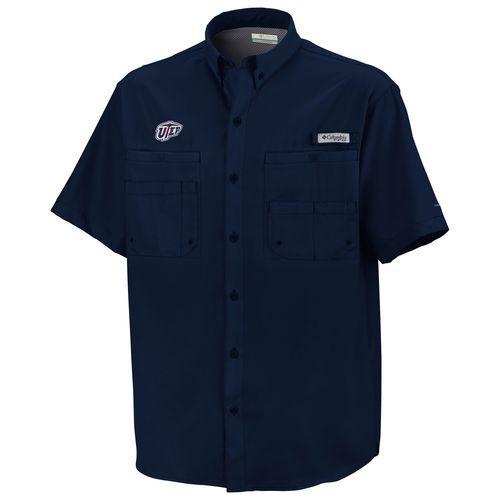 Columbia Sportswear Men's University of Texas at El Paso Tamiami™ Button Down Shirt (Navy, Size Medium) - NCAA Licensed Product, NCAA Men's Jersey/...